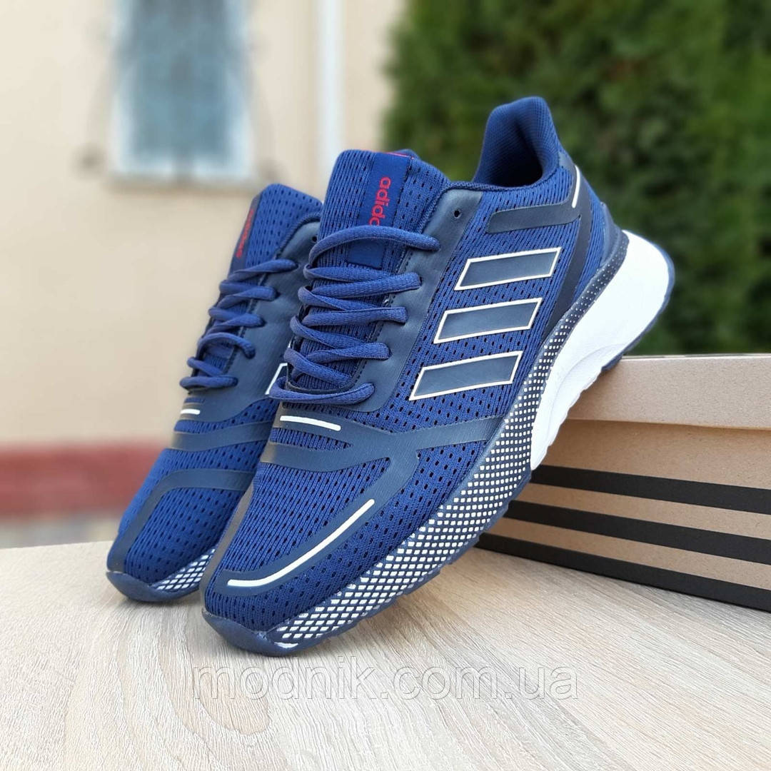 Мужские кроссовки Adidas Nova Run (синие) 10055