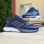 Мужские кроссовки Adidas Nova Run (синие) 10055, фото 9