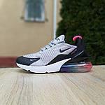 Женские кроссовки Nike Air Max 270 (серо-черные) 2856, фото 3