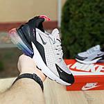 Женские кроссовки Nike Air Max 270 (серо-черные) 2856, фото 4