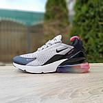 Женские кроссовки Nike Air Max 270 (серо-черные) 2856, фото 5