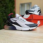 Женские кроссовки Nike Air Max 270 (серо-черные) 2856, фото 6