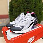 Женские кроссовки Nike Air Max 270 (серо-черные) 2856, фото 9