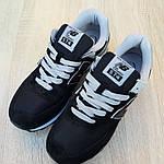 Женские замшевые кроссовки New Balance 574 (черные)) 20047, фото 9