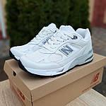 Женские кроссовки New Balance 991 (бело-серые) 20045, фото 8