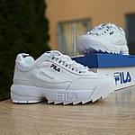 Женские кроссовки FILA disruptor 2 (бело-синие) 2971, фото 9