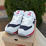 Мужские кроссовки New Balance 574 (серые с синим и красным) 10059, фото 3