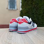 Мужские кроссовки New Balance 574 (серые с синим и красным) 10059, фото 5