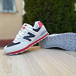 Мужские кроссовки New Balance 574 (серые с синим и красным) 10059, фото 7