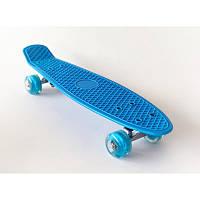 Детский пенниборд, скейт, для мальчиков, Светящиеся колеса Penny Boarde 10 цветов, от 2-х лет