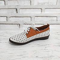 Туфлі жіночі літні турецькі перфорація Y