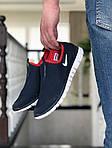 Мужские кроссовки Nike Free Run 3.0 (темно-синие с белым и красным) 9201, фото 2