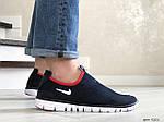 Мужские кроссовки Nike Free Run 3.0 (темно-синие с белым и красным) 9201, фото 3