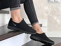 Женские кроссовки Nike Free Run 3.0 (черные) 9210