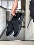 Женские кроссовки Nike Free Run 3.0 (черные, лого белое) 9214, фото 3