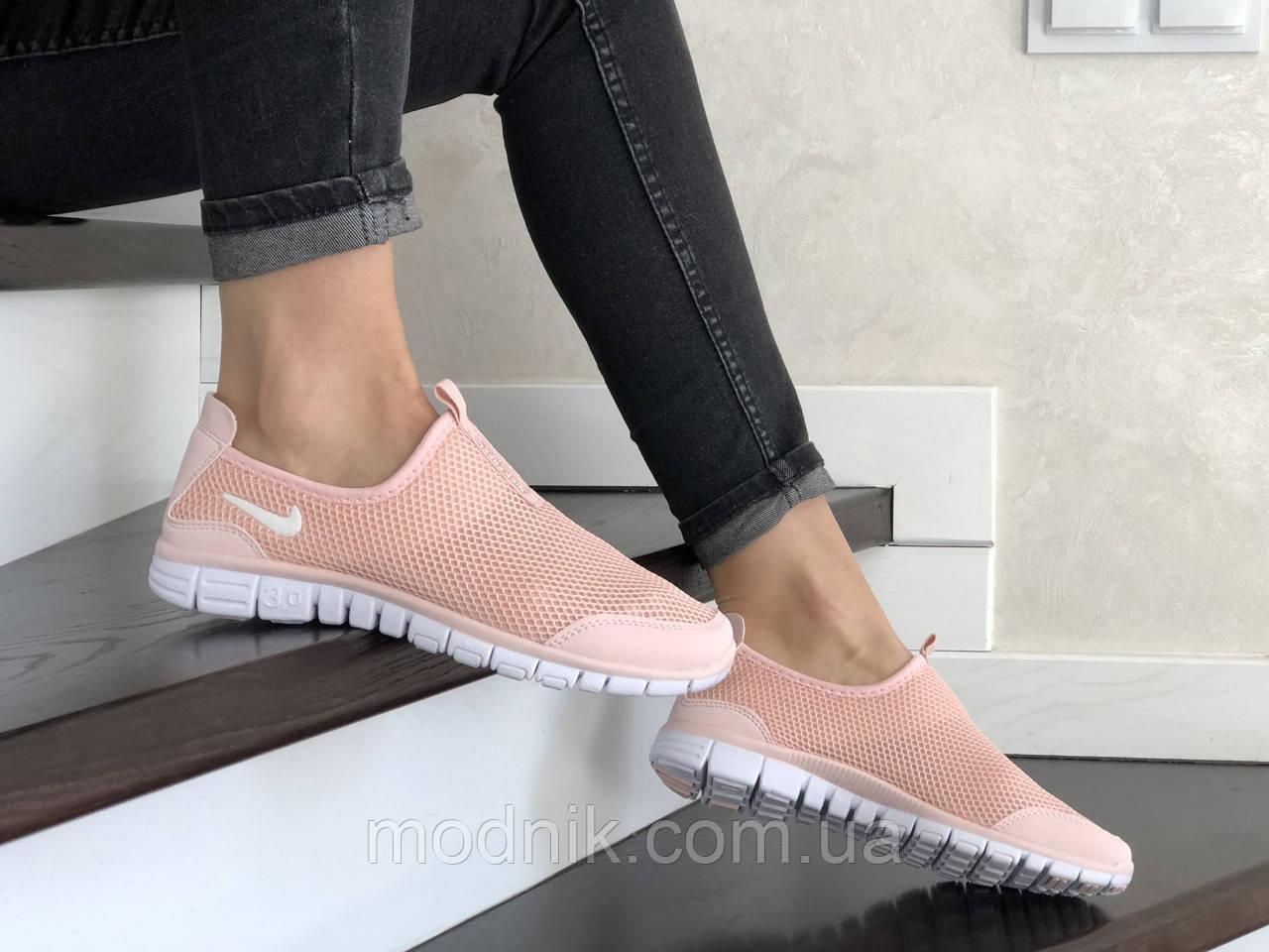 Женские кроссовки Nike Free Run 3.0 (пудровые) 9217