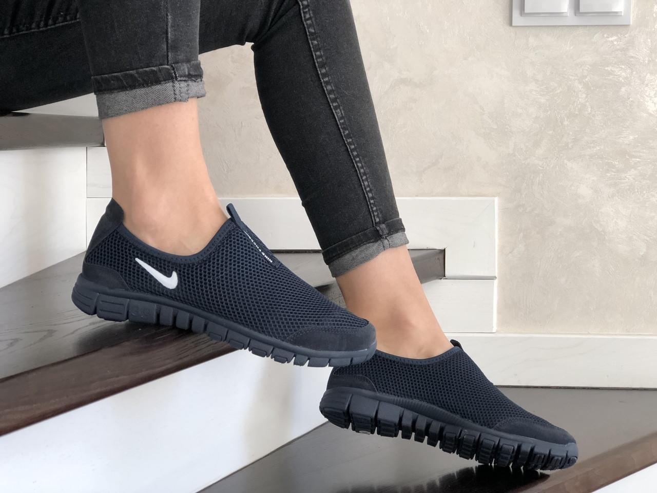 Женские кроссовки Nike Free Run 3.0 (темно-синие) 9212