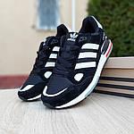 Мужские кроссовки Adidas zx 750 (черные) 10061, фото 6