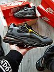 Мужские кроссовки Nike Air Max 270 React (черно-серые) 343PL, фото 4
