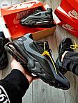 Мужские кроссовки Nike Air Max 270 React (черно-серые) 343PL, фото 5