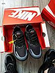 Мужские кроссовки Nike Air Max 270 React (черно-серые) 343PL, фото 6