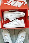 Мужские кроссовки Nike Air Force 1 Low (белые) 348PL, фото 7