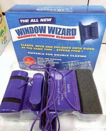 Window Wizard магнитная щетка для мытья окон двух сторон, Виндоу Визард для стеклопакетов до 10ММ, фото 2