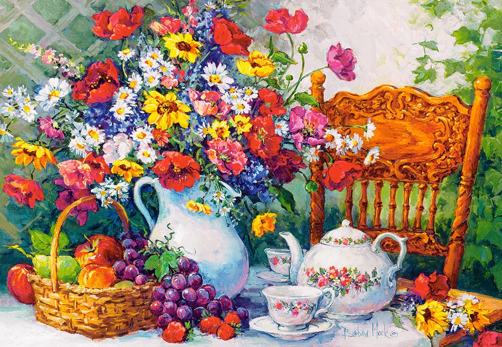 Пазлы Время чаепития, натюрморт на 1000 элементов
