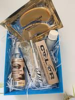 Набор для покраски ресниц и бровей.  цвет светло коричневый + патчи под глаза в подарок (№8)