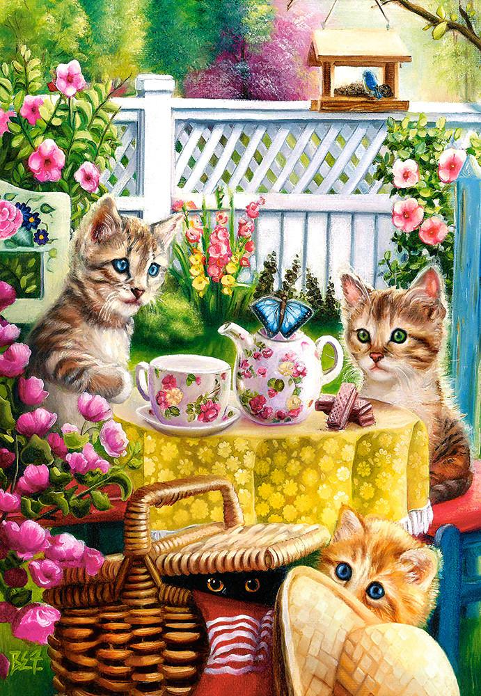 Пазлы Время чаепития, котята на 1000 элементов