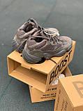Стильні кросівки Adidas Yeezy 500 Soft Vision (Black), фото 2