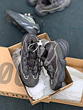 Стильні кросівки Adidas Yeezy 500 Soft Vision (Black), фото 3