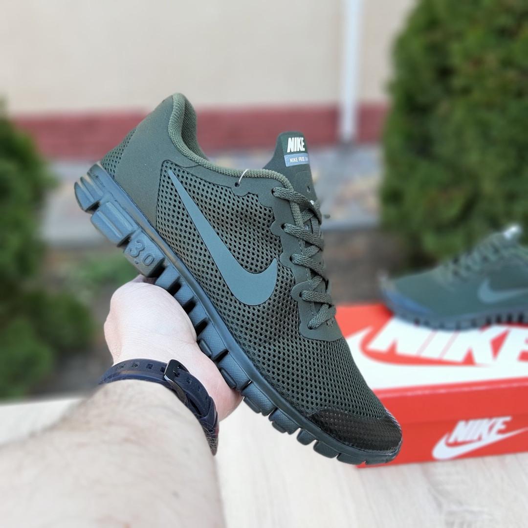 Мужские кроссовки Nike Free Run 3.0 (хаки) 10068