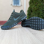 Мужские кроссовки Nike Free Run 3.0 (хаки) 10068, фото 3