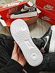 Мужские кроссовки Nike Air Force 1 Low Under Construction Рефлектив (черные) 346PL, фото 3