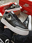 Мужские кроссовки Nike Air Force 1 Low Under Construction Рефлектив (черные) 346PL, фото 6