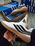 Мужские кроссовки Adidas Sobakov (бело-черные) 350PL, фото 3