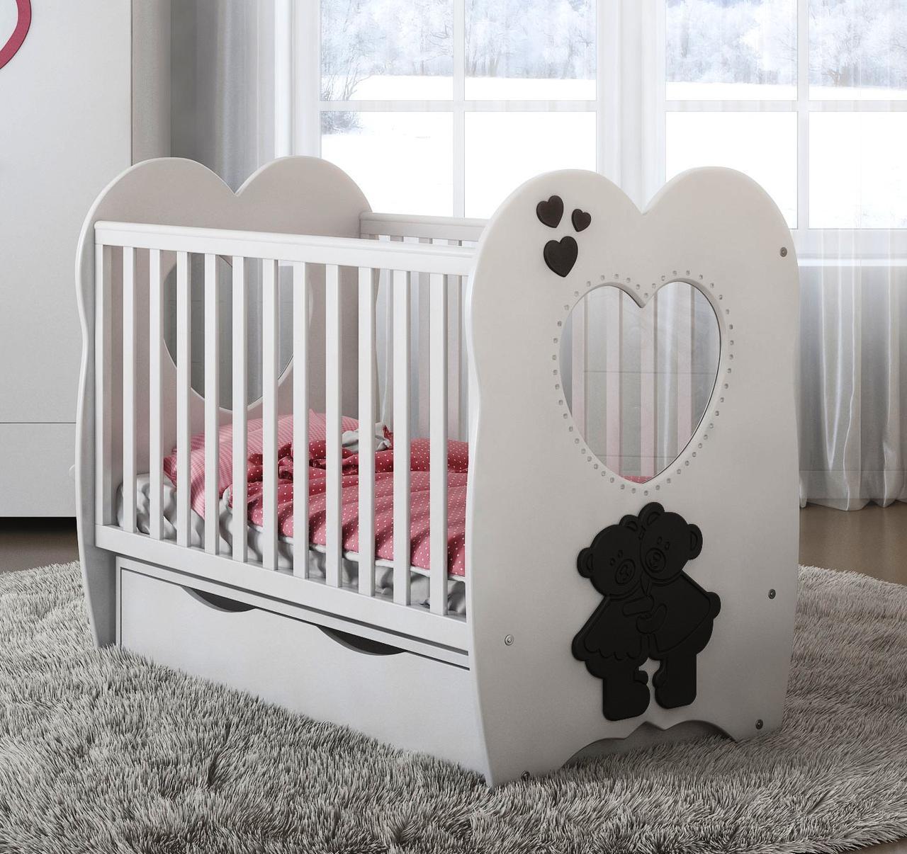 Дитяче ліжечко Angelo Lux-3 біла