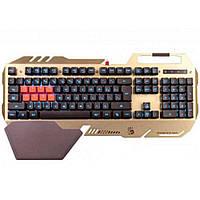 Клавиатура проводная USB A4Tech Bloody B2418 Light Strike игровая с подсв. и подст. золотист. с чёрным новая