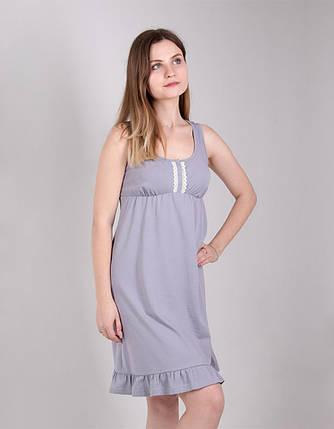 Ночная рубашка для кормящих и беременных размер 42,44,46,48,50 ткань 100% хлопок, фото 2