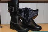 Зимние сапоги на девочку 33-38 черные, фото 4