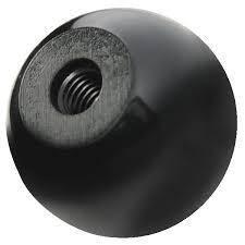 Ручка круглая гладкая форма C MMG DIN 319  M5 (Черная) 25 шт