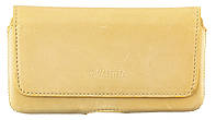 Кожаный футляр на пояс для смартфонов 5,5-6 дюймов Бежевый (С-918/Note беж.) КОД: С-918/Note беж.