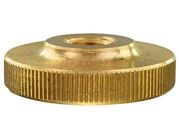 Гайка круглая низкая рифленая с накаткой MMG DIN 467  M4  100 шт