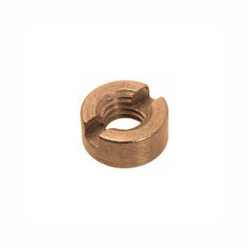 Гайка круглая шлицевая латунная MMG DIN 546  M4  100 шт