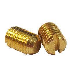 Винт установочный с прямым шлицем латунный MMG DIN 551  M3 х 4  100 шт