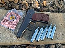 Пневмат Пістолет Макарова ПМ 49 метал пневматичний Borner