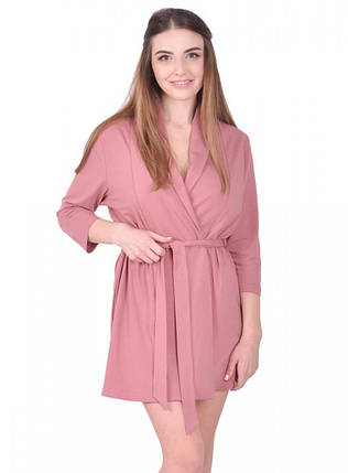 Халат для беременных цвет мокко хлопок 95% эластан 5% размеры 42-50, фото 2