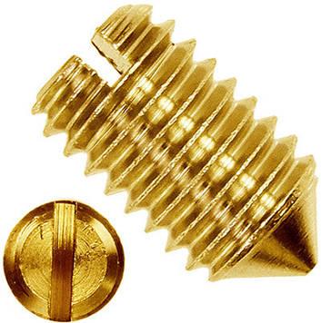 Винт установочный с прямым шлицем латунный MMG DIN 553  M3 х 6  100 шт