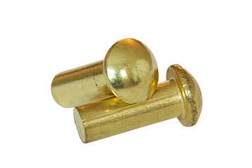 Заклепка под молоток латунная MMG DIN 660  M2 х 4  1000 шт